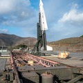 Missile raised for launch.- Nike Missile Site