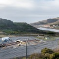 View of the Nike site from the hill above.- Nike Missile Site