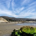 The train passes above Jalama Beach several times a day.- Jalama Beach