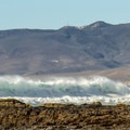 The surfing is often quite good at Jalama Beach.- Jalama Beach