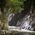 Looking up toward the base of the falls.- Big Falls State Park