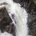 The main falls in Big Falls State Park is about 35 feet tall.- Big Falls State Park