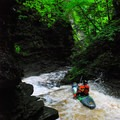 Brokeback Gorge is incredibly narrow and steep.- Brokeback Gorge Kayaking