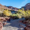 Scenery in White Rock Canyon, the overland approach to the hot springs.- Arizona Hot Springs