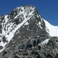 View of Borah Peak's summit block.- Borah Peak Climb