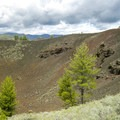 A big crater in Craters of the Moon National Monument and Preserve.- Craters of the Moon National Monument and Preserve