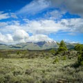 Blizzard Mountain over the lava.- Craters of the Moon National Monument and Preserve