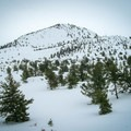 Winter at Big Cinder Butte in Craters of the Moon National Monument and Preserve.- Craters of the Moon National Monument and Preserve