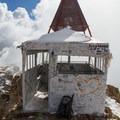 Timpanogos summit shelter.- Mount Timpanogos via Aspen Grove