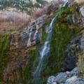 Upper falls on the hike to Mount Timpanogos.- Mount Timpanogos via Aspen Grove