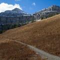 On the trail to Mount Timpanogos near Hidden Lakes.- Mount Timpanogos via Aspen Grove