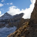 The summit of Mount Timpanogos summit from the saddle.- Mount Timpanogos via Aspen Grove
