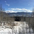 Overlooking Frisco on the Meadow Creek Trail.- Buffalo Mountain Loop Snowshoe