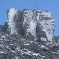 Rime ice near the summit.- Mount Timpanogos via Aspen Grove