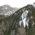 View from the switchbacks. - The Loch Vale Snowshoe