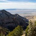 View west on the descent from Deseret Peak.- Deseret Peak Hike