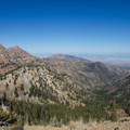 View north from the saddle near Deseret Peak with Stansbury Mountains and the Great Salt Lake- Deseret Peak Hike