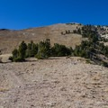 From the saddle near Deseret Peak the trail climbs open alpine terrain to the summit.- Deseret Peak Hike