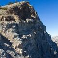 Rugged cliffs just north of the trail to Deseret Peak.- Deseret Peak Hike