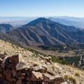 View east from the summit of Deseret Peak: Oquirrh Mountains and the Wasatch Mountains in the distance.- Deseret Peak Hike