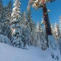 The ridge leading to Echo Lake.- Echo Lake Snowshoe