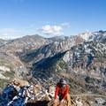 Contributor John Badila on the ridge.- Mount Superior