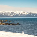 Lake Tahoe from Sugar Pine Point State Park.- Yellow Trail Snowshoe in Sugar Pine Point State Park