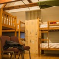 Male dorm bunk beds.- Clair Tappaan Lodge