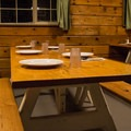 Community dining at the Clair Tappaan Lodge.- Clair Tappaan Lodge