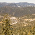 Viewpoint from the parking lot.- Omega Diggins Overlook Hike