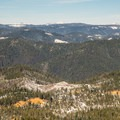 View from the Omega Diggings overview platform.- Omega Diggins Overlook Hike