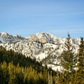 View across Big Cottonwood Canyon on the Scott Hill snowshoe.- Scott Hill Snowshoe