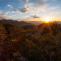 Sunset over Salt Lake Valley from Mount Aire.- Mount Aire Hike