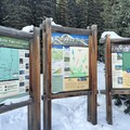 White River National Forest area maps at the Quandry Peak Trailhead.- Quandary Peak Hike, East Ridge