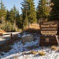 Campground entrance.- Jordan Pines Group Campground