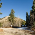 View near the Pinyon Day Use site.- Jordan Pines Group Campground