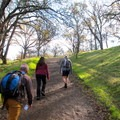 Setting off from Mitchell Creek Visitor Center.- Mount Diablo Hike via Mitchell Canyon Visitor Center