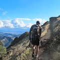 On the trail to Mount Diablo.- Mount Diablo Hike via Mitchell Canyon Visitor Center