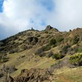 Looking up to the summit of Mount Diablo.- Mount Diablo Hike via Mitchell Canyon Visitor Center