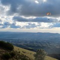 Paraglider taking off from Deer Flat Road.- Mount Diablo Hike via Mitchell Canyon Visitor Center