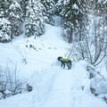 The trail has some bridge crossings.- Loch Leven Lakes Snowshoe