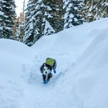 This is a great trail for dogs in the winter.- Loch Leven Lakes Snowshoe