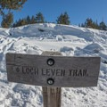 The begining of the trail.- Loch Leven Lakes Snowshoe