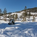 The beginning of the trail- Loch Leven Lakes Snowshoe