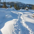 Snowshoeing to Loch Leven Lake.- Loch Leven Lakes Snowshoe