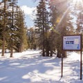 Biathlon competition site along the Red Trail.- Red Trail Snowshoe in Sugar Pine Point State Park