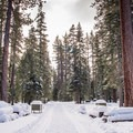 Hike through the General Creek Campgroud.- Blue Trail Snowshoe in Sugar Pine Point State Park