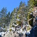 Ridgeline above Tamanawas Falls.- Tamanawas Falls Snowshoe