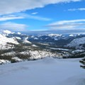 Looking out over the Yosemite wilderness.- Glacier Point Cross-Country Ski