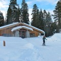 The Glacier Point Ski Hut can feed and house up to 20 skiers or snowshoers per night. - Glacier Point Cross-Country Ski